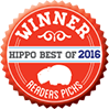 Hippo Best of 2016 winner badge