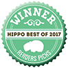 Hippo Best of 2017 winner badge